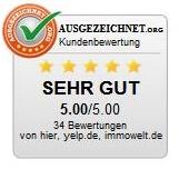 Top Makler Bewertung bei ausgezeichnet.org