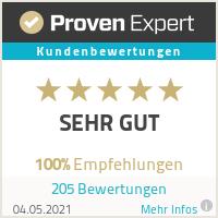 Top Makler Bewertung bei Proven Expert